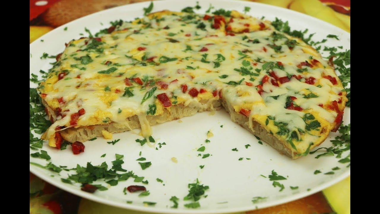 افكار فطور صباحي ب 4 طرق سريع في 10 دقائق بالبيض والجبن مع رباح محمد Food Breakfast Pizza