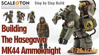 Building the Hasegawa MK44 Ammoknights Maschinenkrieger SF3D Plastic Scale Model