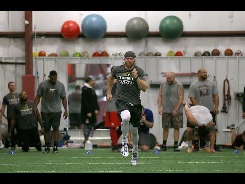 Philip Nelson, quarterback for Minnesota, Rutgers and East Carolina, trains for NFL