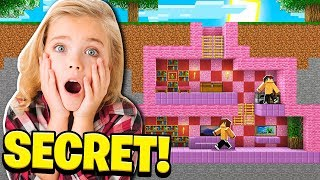 I Found My LITTLE SISTER'S SECRET BASE in Minecraft!