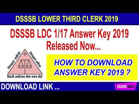 How To Check DSSSB LDC ANSWER KEY2019