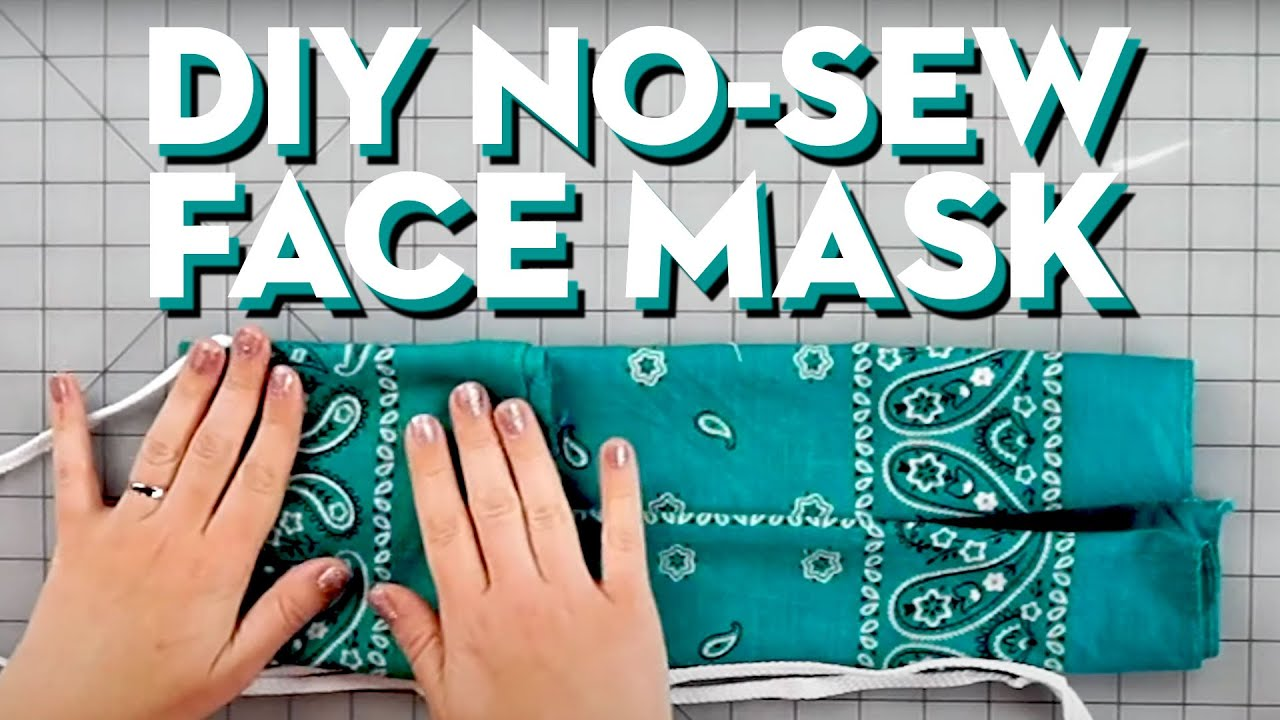How To Make A DIY No-Sew Face Mask | Good Housekeeping