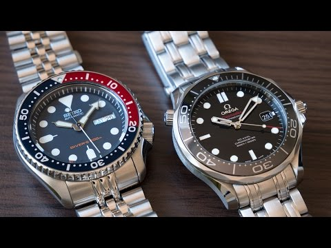 Omega Seamaster 300m And Seiko SXK009: 4 000$ Watch Compared To 200$ Watch 4K