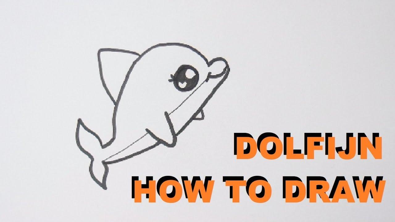 Super Hoe Teken Je Een Dolfijn ? Tekenen Voor Beginners - YouTube &MQ29