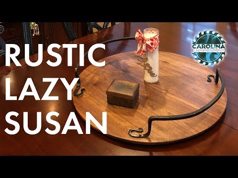 How to Make a Rustic Lazy Susan | Woodworking / DIY