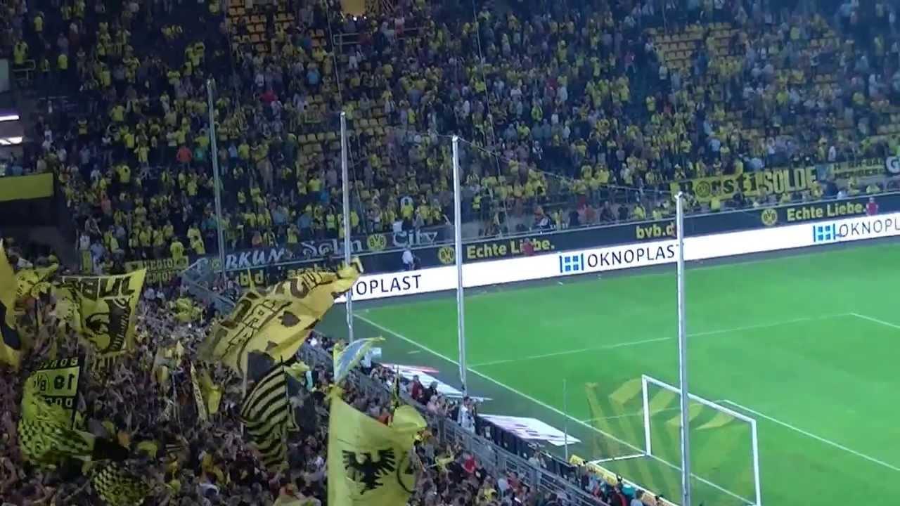 Südtribüne feiert die Mannschaft - Borussia Dortmund - SV Werder Bremen 1:0 BVB HD 2013