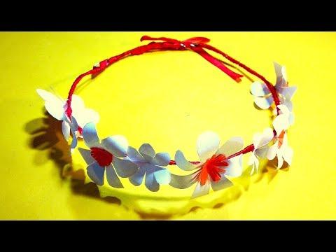 How to make paper flower tiara/headband/crown | DIY Flower Crown