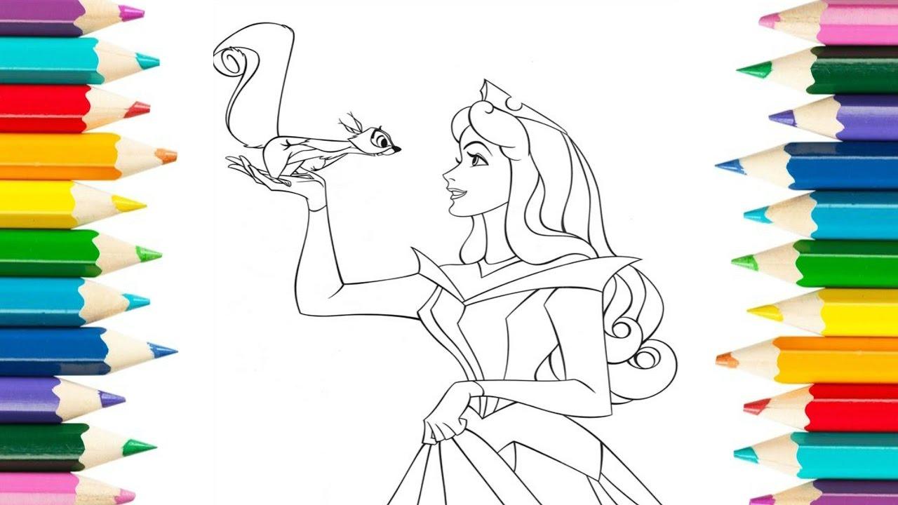 Imagenes Animadas Para Colorear: Dibujos Colorear Princesa Aurora En Vestido Rosa / Dibujos