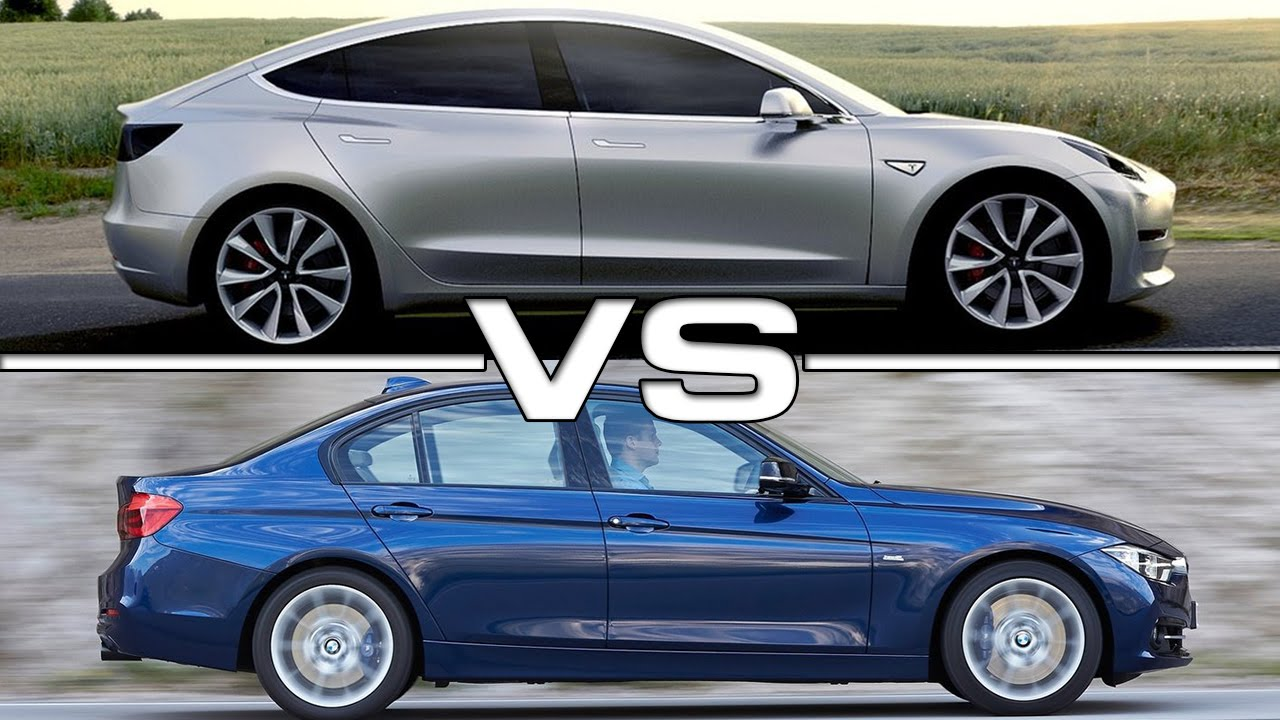 tesla model 3 vs bmw 3 series youtube. Black Bedroom Furniture Sets. Home Design Ideas