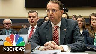 Deputy AG Rod Rosenstein: I've Seen No Good Cause To Fire Special Counsel Robert Mueller | NBC News