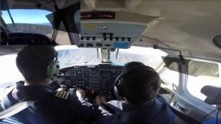 Air Nunavut take off from Brevoort Island