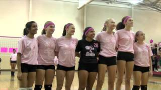 ebhs girls volleyball pink out senior night