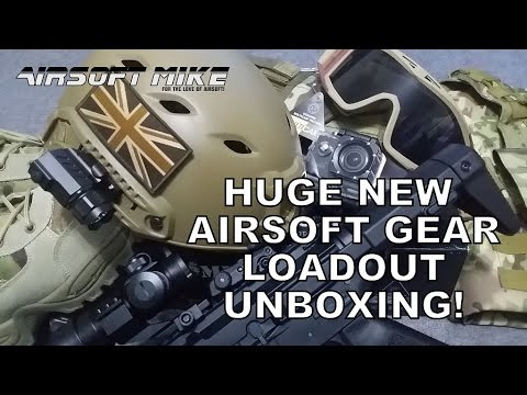 HUGE AIRSOFT GEAR LOADOUT UNBOXING Including DBPOWER SJ4000 Action Camera MTP Multicam Gear & More!