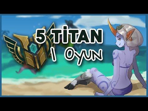 5 Titan - 1 Oyun! Şampiyon birincileri ile eğleniyok. ᕙ(`▽´)ᕗ