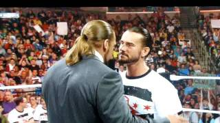 "Triple H tells cm punk that he has a ""skinny fat ass"""