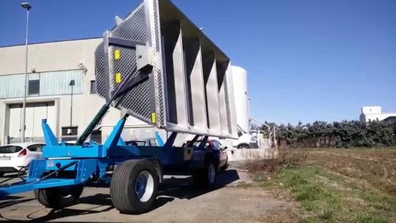 Rimorchio agricolo trasporto uva vasca 120q alma youtube for Vasca trasporto uva usata