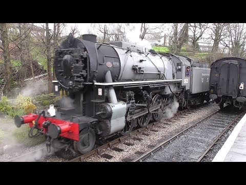 Keighley and Worth Valley Railway - USATC S160 95820 at Oxenhope Station