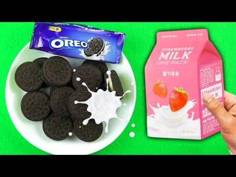 Mix Milk and Oreo, sing children's songs Finger Family, video for children