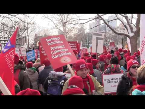 Thousands demand change from new Ontario premier