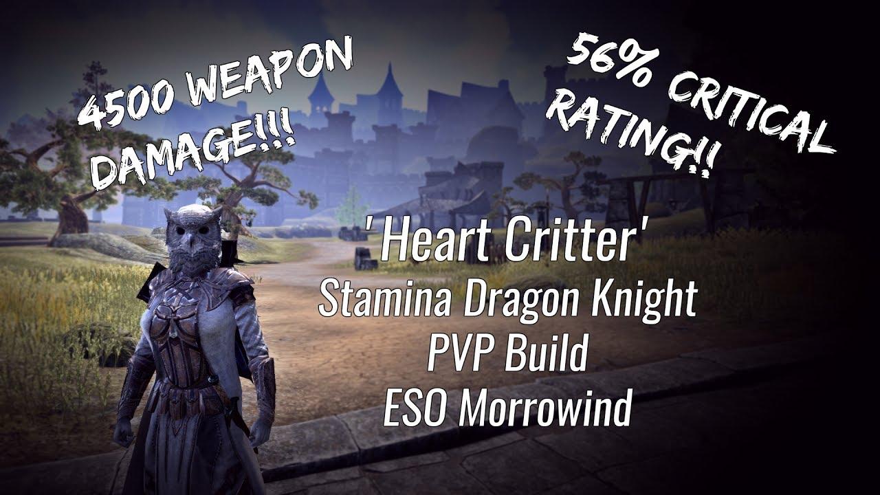 Eso Stamina Dragon Knight Pvp Build