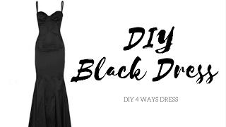 Diy Days: Black Dress 3 Different Designs !!