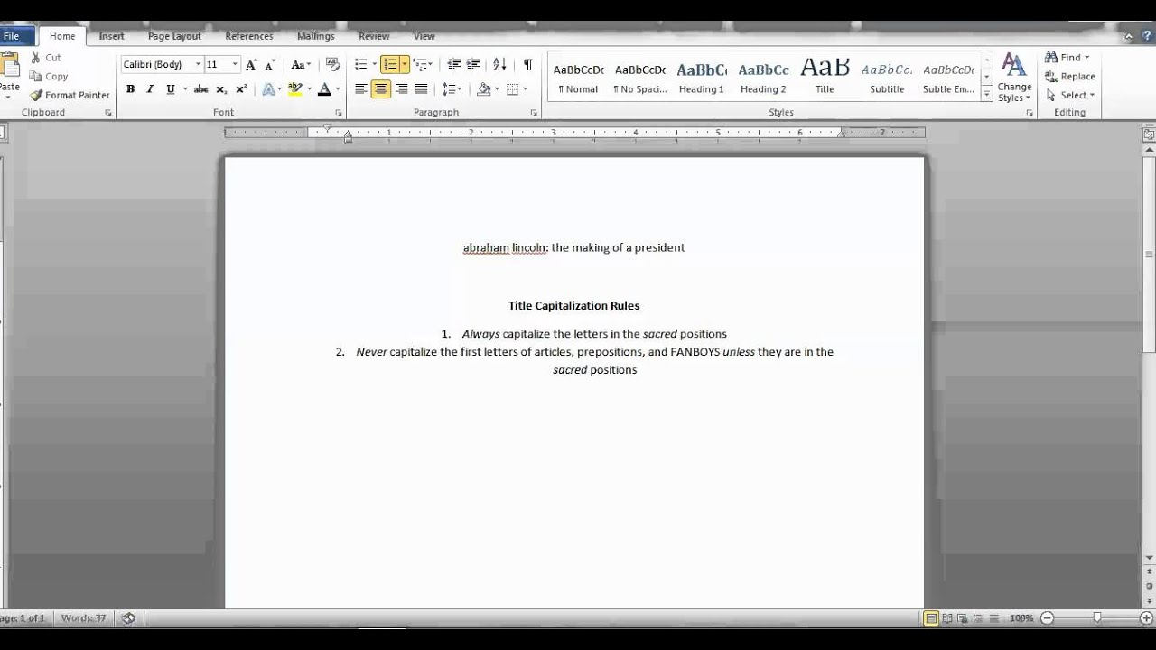 how to capitalize your own paragraph and essay titles spring how to capitalize your own paragraph and essay titles spring 2014