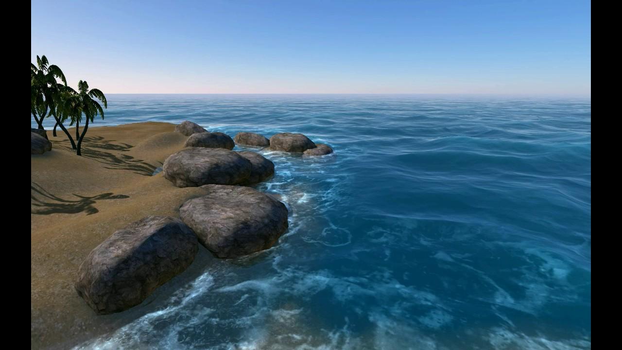 Hydroform ocean shore rendering