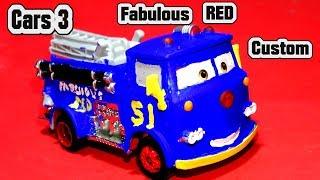 Pixar Cars 3 Fabulous Red Custom Car with Miss Fritter Primer Lightning McQueen by Mattel