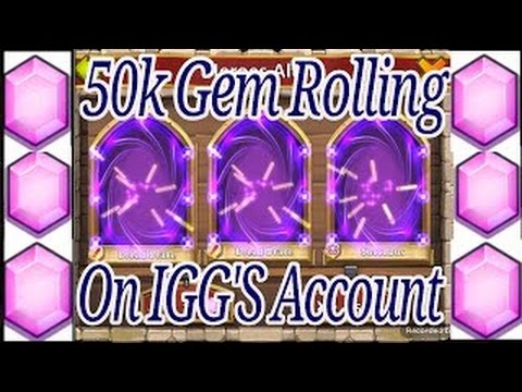 Castle Clash 50k Gem Rolling IGG'S Account