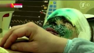 Young boy Vanya heavily injurred as result of Ukrainian shelling ENG-subs