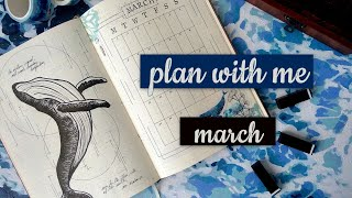 Download plan with me︱ march 2021 bullet journal setup