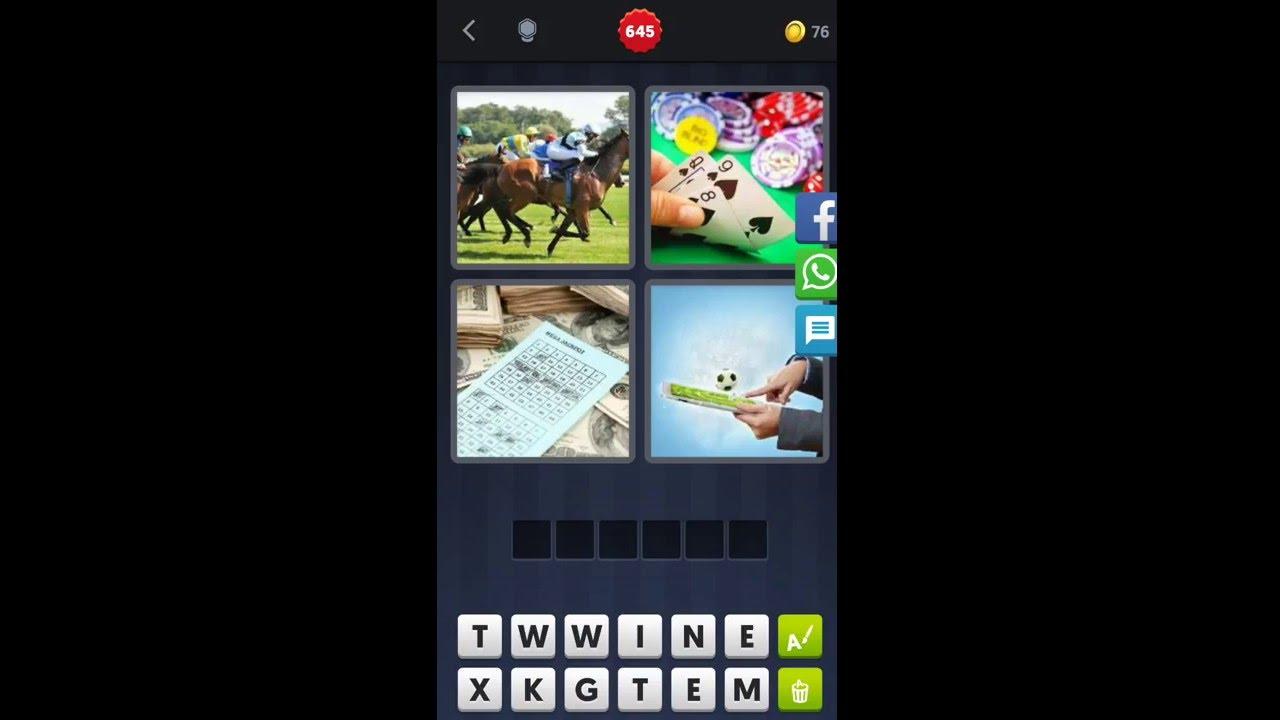4 Bilder 1 Wort Pferderennen