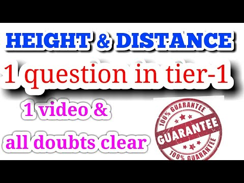 height and distance (complete) for bank po || ssc cgl || chsl || cpo || railway || all govt exam