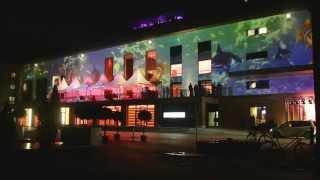 Salzburger Festspielball 2014   Fassadenprojektion/projection mapping : Haus fuer Mozart