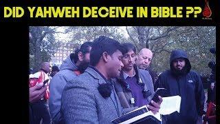 Did God Deceive His Prophet In Bibile! Shabir Vs Arul | Speakers Corner 2019