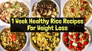 7 super healthy rice recipes full of flavours, loaded with fibre & protein. you can enjoy them for lunch or dinner. they are highly nutritious, delic...