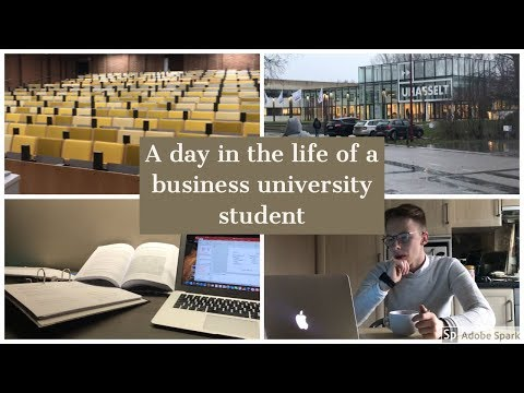 A Day in the Life of a Business University Student l  UHasselt Belgium