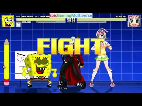 Devil May Cry Characters And DoodleBob And SpongeBob VS Kurumi In A MUGEN Match / Battle / Fight