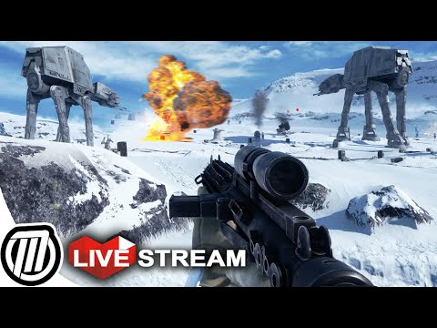 Star Wars Battlefront 3 Gameplay: HUGE BATTLE & AT-AT Assault! Multiplayer LIVE Stream (PC 1080p)