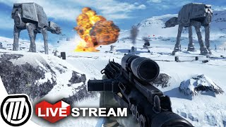 Скачать Star Wars Battlefront 3 Gameplay HUGE BATTLE AT AT Assault Multiplayer LIVE Stream PC 1080p