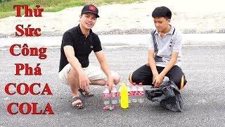 DMP Vlogs - Thử Sức Công Phá Chai COCA COLA Của Bột Nhôm Với Nước Tẩy Rửa Bồn Cầu Con Vịt