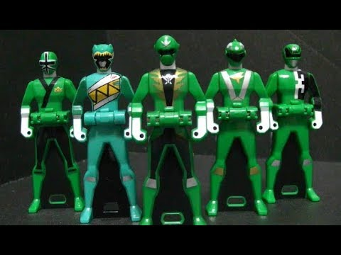 Power Rangers Super Megaforce Green Rangerkey  Toys Dino Charge Samurai RPM SPD