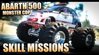 Doing Skill Missions in Abarth 500 Police Monster - The Crew Calling All Units