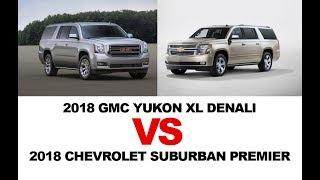 2018 GMC Yukon XL Denali vs CHEVROLET Suburban Premier 2018