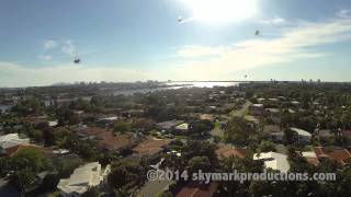 Repeat youtube video Angry Africanized Bees Attack Quadcopter and Win (sorta).