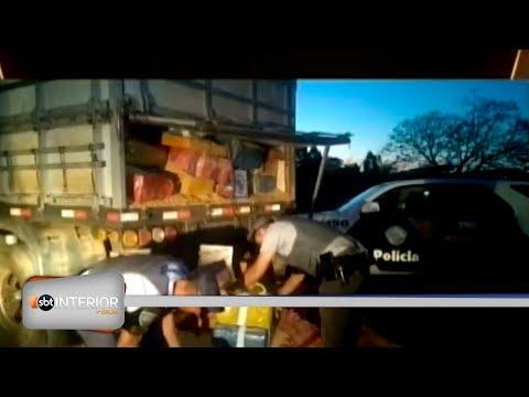 Policia Rodoviária apreende mais de 4 toneladas de maconha em Teodoro Sampaio