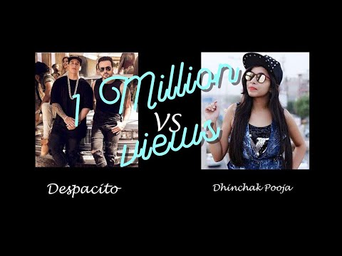Despacito vs Dhinchak Pooja (funny reactions)