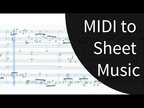 Flawless MIDI To Sheet Music In Musescore 2
