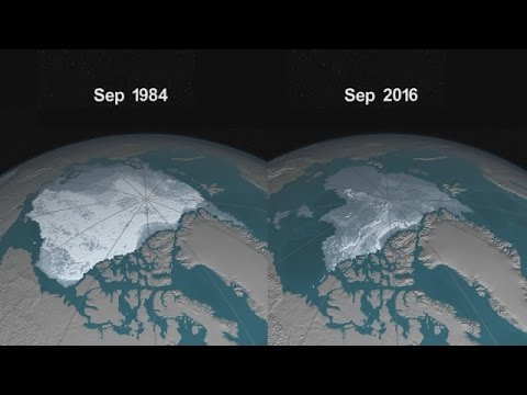 NASA SHOWS THAT ARTIC ICE IS DISAPPEARING.  NOVEMBER 8 2016 (CLIMATE CHANGE)