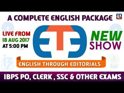 English Through Editorials | Part 1 | IBPS | RRB | PO | Clerk | SSC